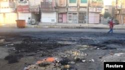 Место взрыва в районе Адхамия иракской столицы