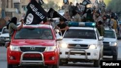 """Ракка шаарындагы """"Ислам мамлекети"""" экстремисттик тобунун парады"""