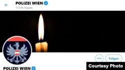 Pagina de Twitter a Poliției vieneze după atentatul de luni