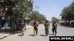 شماری از نیروهای افغان در شهر کندز