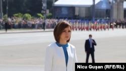 Președinta Maia Sandu de Ziua Independenței, Chișinău, 27 august 2021.