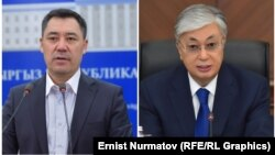 Исполняющий обязанности президента Кыргызстана Садыр Жапаров и президент Казахстана Касым-Жомарт Токаев.