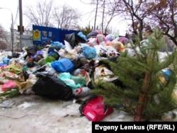 Площадка ТКО на улице Маршала Еременко