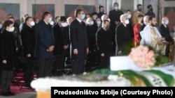 Пахаваньне патрыярха Ірынея, кіраўніка Сэрбскай праваслаўнай царквы, 22 лістапада 2020