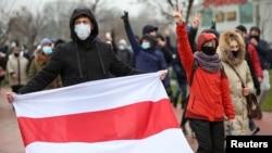 Protest u Minsku, 22. novembar