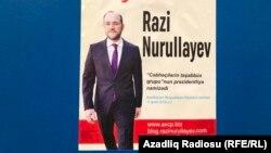 R.Nurullayevin seçki plakatı