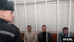 Мікалай Аўтуховіч, Уладзімер Асіпенка, Міхаіл Казлоў (справа)
