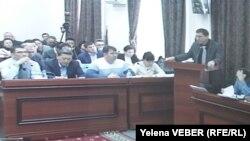 Экс-премьер Серік Ахметовтің ісі бойынша сот отырысы. Қарағанды, 4 қараша 2015 жыл.