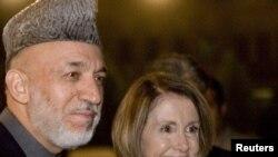 Хамид Карзай и Нэнси Пэлоси