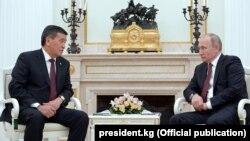 Сооронбай Жээнбеков и Владимир Путин. 29 ноября 2017 года.