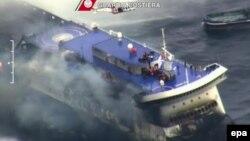 Ադրիատիկ ծովում այրվող Norman Atlantic լաստանավը, 28-ը դեկտեմբերի, 2014թ․