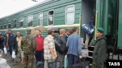 Georgia/Abkhazia - Regular railway communication linking Russia to Abkhazia launched, Sukhumi, 11Sep2004