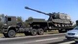 Российская военная техника в Ростовской области, в 30 километрах от украинской границы, 15 августа 2014 года