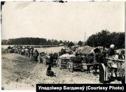 Бясконцая калёна ўцекачоў-беларусаў, 1915 год