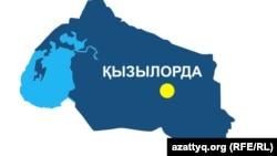 Қызылорда облысының аумақтық картасы (Көрнекі сурет).