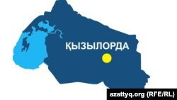 Kazakhstan - regional map of Kyzylorda region. 28May2013