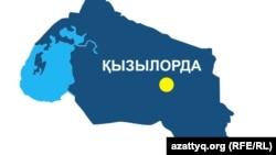 Карта Кызылординской области.
