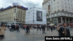 Fotografije pisaca ubijenih na Dotrščini - izložba na zagrebačkom Trgu bana Jelačića