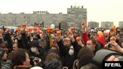 Калининград, площадь у Дома Советов. 20 марта 2010 года.