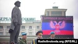 Архивное фото. Парад ко Дню победы в оккупированном Донецке, 9 мая 2015 года