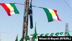 نصب پرچم اقلیم کردستان در کرکوک