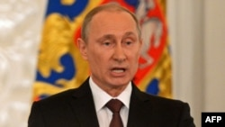 Ресей президенті Владимир Путин. Мәскеу, 18 наурыз 2014 жыл.