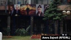 Posteri sa likom Vladimira Putina u Severnoj Mitrovici