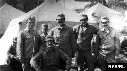 Першыя ліквідатары аварыі на Чарнобыльскай АЭС