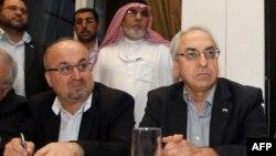 Нишасти сарони мухолифини режими Башор Асад дар Доҳа, пойтахти Қатар
