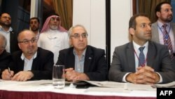 Лидеры Национального совета Сирии на съезде в Катаре. Доха, 9 ноября 2012 года.