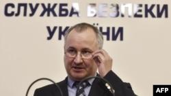 Голова СБУ Василь Грицак під час прес-конференції у Києві. 6 червня 2016 року
