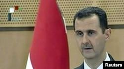 Сирия президенті Башар әл-Асад халыққа үндеуін жолдап тұр. Дамаск, 20 маусым 2011 жыл.