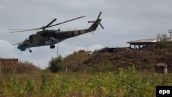 "Baku claims it shot down the helicopter after it ""attempted to open fire"" on its troops. (file photo)"