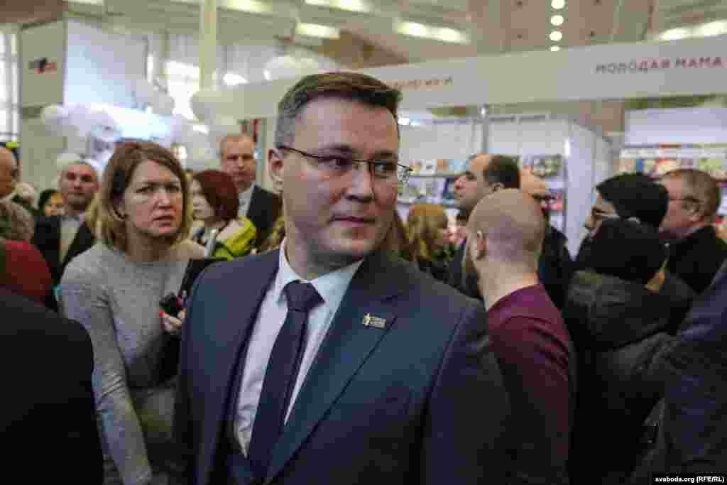 Старшыня Беларускага саюзу журналістаў Андрэй Крывашэеў