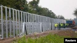 Mađarska ograda na granici sa Srbijom, ilustracija