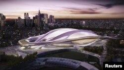 Njëri nga stadiumet olimpike në Tokio.