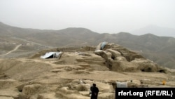 The Mes Aynak archaeological site in Afghanistan