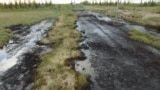 Russia - oil spill in Komi republic - environment - screen grab