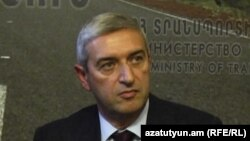 Տրանսպորտի, կապի և տեղեկատվական տեխնոլոգիաների նախարար Վահան Մարտիրոսյանը, արխիվ:
