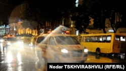 Полицейские машины в центре Тбилиси