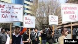 Բողոքի ակցիա Երևանում ի պաշտպանություն քեսաբահայերի, 26-ը մարտի, 2014