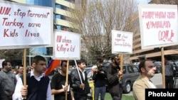 Բողոքի ակցիա Երևանում՝ ի պաշտպանություն քեսաբահայերի, 26-ը մարտի, 2014