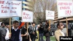 Демонстрация армян против убийств в Кесабе состоялась и в США