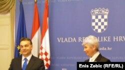 Viktor Orban i Jadranka Kosor u Zagrebu, 8. veljače 2011