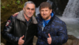 Chechen leader Ramzan Kadyrov (right) poses with Nazhud Guchigov, whose marriage to a 17-year-old schoolgirl raised eyebrows for a variety of reasons.
