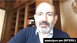 Armenian Prime Minister Nikol Pashinian during a live broadcast on Facebook, March 15, 2020