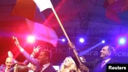 Milorad Dodik proslavlja rezultat referenduma, 25. septembar 2016.