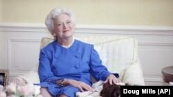 Бывшая первая леди США Барбара Буш, архивное фото