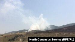 В министерстве природных ресурсов Дагестана подчеркивают: горит не лес, а мусорная свалка