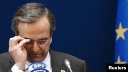 Грекия премьер-министрі Антонис Самарас. Брюссель, 19 қазан 2012 жыл.